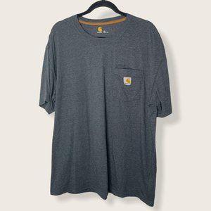 Carhartt Gray Short Sleeve Crew Neck Shirt Size XL